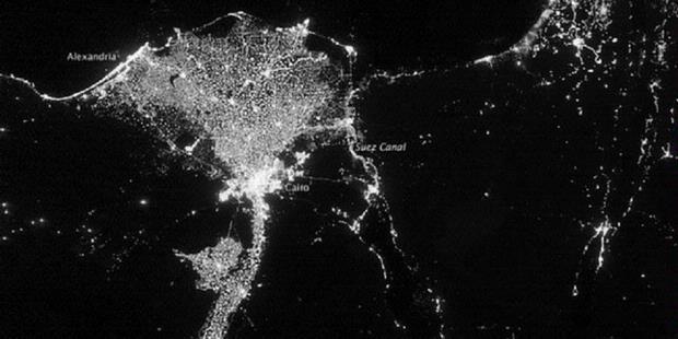 bumi pada malam hari